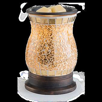 Gold Glass Mosaic Warmer
